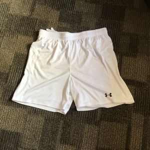 UNDER ARMOUR   White Athletic Shorts